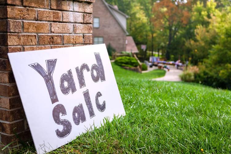 Community Fall Yard Sale – Saturday, October 12, 2019