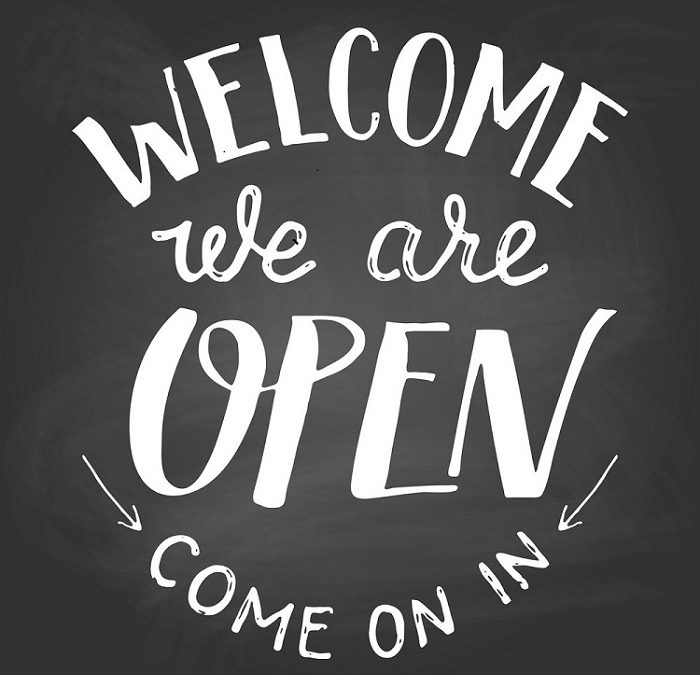 We Are Open for Business!